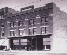 View of the south elevation of the Jasper Block, 1912, looking north from Jasper Avenue; City of Edmonton, Planning and Development Department, March 2003