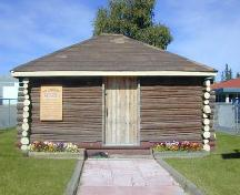 Front of Old Log School, 2002; E.Hawkins/GNWT