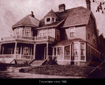 Showing south east elevation in early 1900s; Elmwood Inn