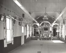 Interior view of the Sikh Temple, 1977; MSA Museum Society, # N1371
