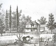 Engraving of Belmont Farm; Meacham's Illustrated Historical Atlas of PEI, 1880
