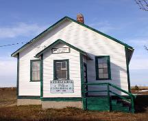 Primary elevation, from the south, of Northfield School, Millford area, 2005; Historic Resources Branch, Manitoba Culture, Heritage and Tourism, 2005