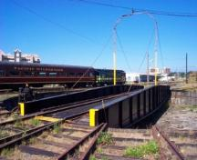 View of the locomotive turntable, E&N Roundhouse, 2004.; City of Victoria, Steve Barber, 2004.