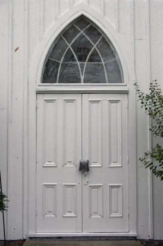 Main door of Mayne Corners Church, ca. 2005
