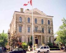 Front view of the Niagara District Courthouse showing the frontispiece – 2002; OHT, 2002