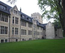 View of west elevation of the School for the Deaf, Winnipeg, 2005; Historic Resources Branch, Manitoba Culture, Heritage and Tourism, 2005