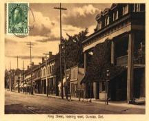 Historic view of King Street showing 59-63 King Street in the distance – c. 1924; hamiltonpostcards.com, 2005