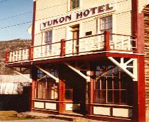 Front façade of Yukon Hotel National Historic Site of Canada, after restoration.; Patrimoine Canada/ Heritage Canada