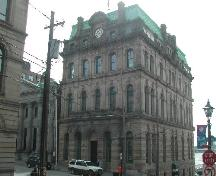 This photograph shows the contextual view of the building, 2005.; City of Saint John