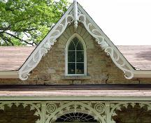 Detail of gable and verandah fretwork, including thistles in the spandrels – 2006; OHT, 2006
