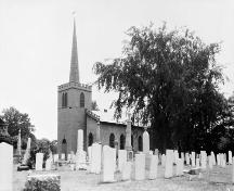 View through graveyard of north and east side -1925; Meredith, Colborne Powell, [Photograph], c. 1925, PA-026813, Library and Archives Canada