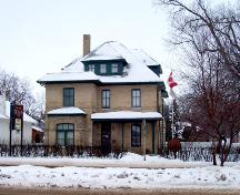 Main (east) face of Daly House, Brandon, 2005.; Historic Resources Branch, Manitoba Culture, Heritage, Tourism and Sport, 2005