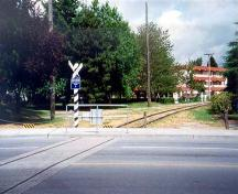 View of the CPR Power Poles and Railway Tracks from the south, Richmond, BC, 2001; Denise Cook Design 2004