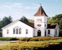 Exterior view of the Minoru Chapel, in Minoru Park, Richmond, BC, 2001; Denise Cook Design 2001