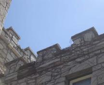 Featured is the crenulated roofline of the jail.; Kayla Jonas, 2007.
