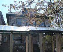 Featured is the stone residence.; Kayla Jonas, 2007.