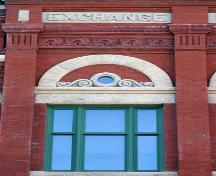 Detail of the Exchange Building, Winnipeg, 2006; Historic Resources Branch, Manitoba Culture, Heritage, Tourism and Sport, 2006
