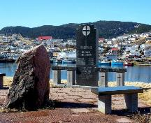 View of the Harbour Breton Landslide Monument overlooking the waters off Harbour Breton, NL.; Doug Wells 2009