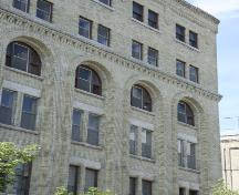 Wall detail of the Adelman Building, Winnipeg, 2005; Historic Resources Branch, Manitoba Culture, Heritage, Tourism and Sport, 2005