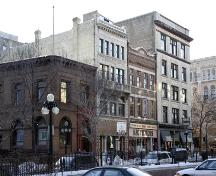 Contextual view, from the northeast, of the Criterion Hotel, Winnipeg, 2006; Historic Resouces Branch, Manitoba Culture, Heritage, Tourism and Sport, 2006