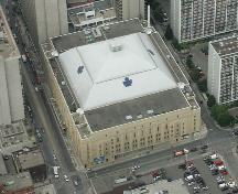 Aerial view of Maple Leaf Gardens.; Parks Canada/Parcs Canada, 1999.