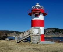 View of Rocky Point Light Tower, Harbour Breton, NL. Photo taken 2009.; Doug Wells 2009