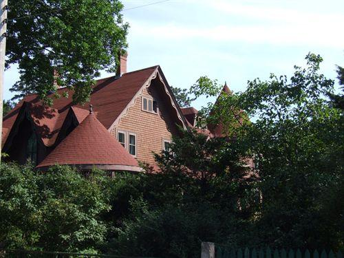 Roofline, showing turrets