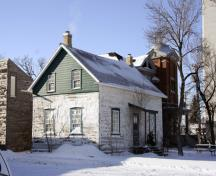 Primary elevations, from the northeast, of the William Brown House, Winnipeg, 2007; Historic Resources Branch, Manitoba Culture, Heritage, Tourism and Sport, 2007
