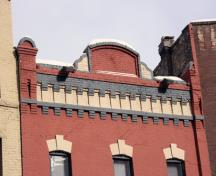 Detail view of the T.W. Taylor Building, Winnipeg, 2006; Historic Resources Branch, Manitoba Culture, Heritage and Tourism, 2006