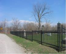 Of note is the wrought iron fence that was erected in 1928.; Town of Milton, ND.