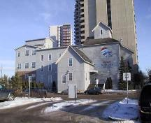 This image illustrates the west elevation of the Edmonton Milling Company and illustrates all the building additions between 1892 and 1902.; City of Edmonton, 2004