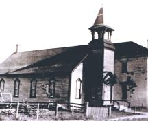 Historic image of the Trinity United Church of Canada, taken circa 1898; Doris E. Kennedy