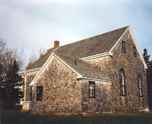 Rear elevation, Old Guysborough Court House Museum, Guysborough, 1989.; Heritage Division, NS Dept. of Tourism, Culture and Heritage, 1989