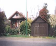 Tapley House and Garage, exterior view,  2004; Corporation of the District of Oak Bay, 2004