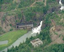 Aerial View of Anyox Powerhouse No. 1; North Pacific Seaplanes, c/o Regional District of Kitimat-Stikine