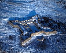 Aerial photo of Prince of Wales Fort, 1984.; Parks Canada Agency / Agence Parcs Canada, W. Lynch, 1984.
