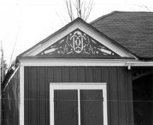 View of the shed located on corner of the Pavilion; ( Parks, 1986.)