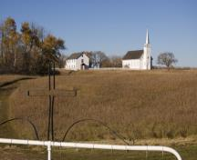 General view of Batoche showing the surviving buildings associated with the Métis Resistance and the original community, 2007.; Parks Canada Agency / Agence Parcs Canada, David Venne, 2007.
