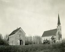 General view of Batoche showing the site of the church, which has been restored to its 1896-1897 appearance, 1930.; Parks Canada Agency / Agence Parcs Canada, 1930.