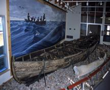 Interior view of Red Bay, showing archaeological remains of vessels submerged in the harbour.; Parks Canada Agency / Agence Parcs Canada.