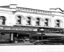Historic exterior view of the Curtis-Armstrong Block, nd; New Westminster Public Library, NWPL 1507