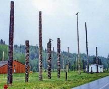 Totem Poles at Kitwankul in 2007; (© Gregory Melle, Flickr, http://www.flickr.com/photos/canadagood/3452022259/), 2007