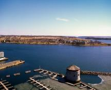 Aerial view of Shoal Tower National Historic Site of Canada.; Parks Canada Agency | Agence Parcs Canada, J. Butterill.