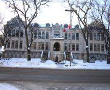 Primary elevation, from the north, of Laura Secord School, Winnipeg, 2006; Historic Resources Branch, Manitoba Culture, Heritage and Tourism, 2006