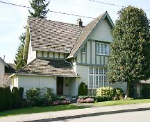 Exterior view of the Kitchin Residence; City of North Vancouver, 2005