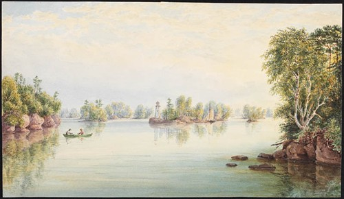 """In the Thousand Islands"" 1842-83, LAC C-150416 / « Dans les Mille-Îles » 1842-83, BAC C-150416"