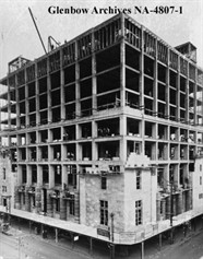 Calgary Public Building during construction, 1929-30, Glenbow Archives / Le Calgary Public Building durant sa construction, 1929-30, les Archives de Glenbow