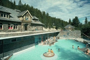 Upper Hot Springs, Parks Canada, Lynch, W., 1991 / Sources thermales Upper Hot Springs, Parcs Canada, Lynch, W., 1991