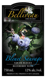Belliveau Orchards' Blueberry Wine / Vin aux bleuets des Vergers Belliveau
